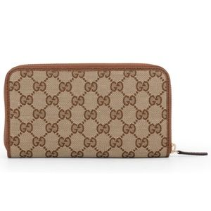 Gucci GG Guccissima Zip Wallet Clutch Card Case